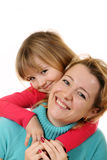Portrait of happy mother and daughter Royalty Free Stock Images