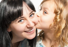 Portrait of a happy mother and daughter. Royalty Free Stock Image
