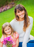 Portrait of happy mother and daughter Royalty Free Stock Photography