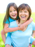 Portrait of a happy mother with her daughter Royalty Free Stock Photo