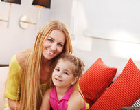 Portrait of happy mother and her little daughter Royalty Free Stock Photo