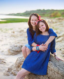 Portrait of a happy mother and her teen daughter Stock Photography