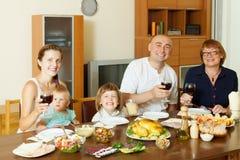Portrait of happy multigeneration family Royalty Free Stock Photos