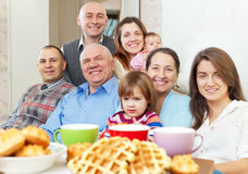 Portrait of happy multigeneration family Stock Image