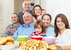 Portrait of happy multigeneration family Stock Image