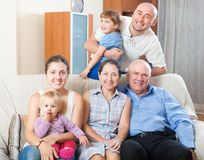 Portrait of happy multigeneration Stock Photography