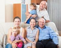 Portrait of happy multigeneration Stock Photography