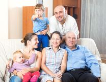 Portrait of happy multigeneration Stock Images