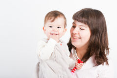Portrait happy mums with a daughter Royalty Free Stock Photography