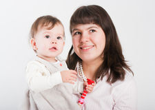 Portrait happy mums with a daughter Royalty Free Stock Photos