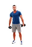 Portrait of a happy muscular man Stock Photo