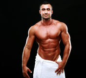 Portrait of a happy muscular man Royalty Free Stock Photo