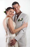 Portrait of happy newlyweds Stock Photography