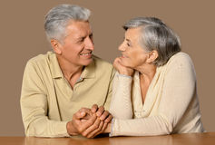 Portrait of  happy  old couple Royalty Free Stock Photos