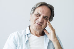 Portrait of happy old  man Royalty Free Stock Photography