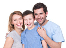 Portrait of the happy parents with son. Royalty Free Stock Images