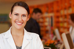 Portrait of happy pharmacist Royalty Free Stock Photography