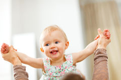 Portrait of happy playing baby Royalty Free Stock Photo