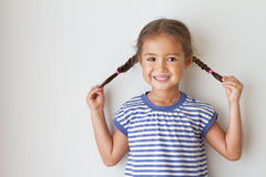 Portrait of happy, positive, smiling, playful girl Royalty Free Stock Photo