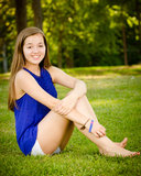Portrait of happy pre-teen girl Royalty Free Stock Photography