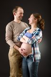 Portrait of a happy pregnant couple Royalty Free Stock Images