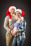 Portrait of a happy pregnant couple Stock Images