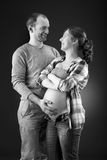 Portrait of a happy pregnant couple Stock Image