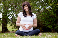 Portrait of Happy Pregnant Woman Royalty Free Stock Photography