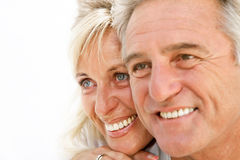Portrait of a happy romantic couple Royalty Free Stock Images