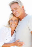 Portrait of a happy romantic couple stock photos