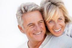 Portrait of a happy romantic couple stock images