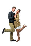 Portrait of happy romantic couple dancing Stock Photo
