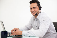 Portrait of a happy sales rep Stock Images