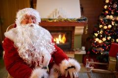 Portrait of happy Santa Claus stock photography