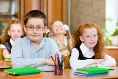 Portrait of happy school children Royalty Free Stock Photo