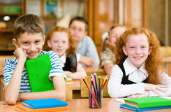 Portrait of happy school children Royalty Free Stock Images
