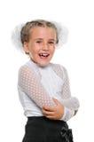 Portrait of a happy schoolgirl Stock Images