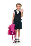 Portrait of a happy schoolgirl Stock Photography