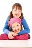 Portrait of happy schoolgirls Stock Image