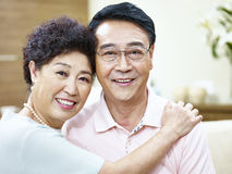 Portrait of a happy senior asian couple Stock Photography