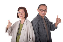 Portrait of happy senior asian couples Royalty Free Stock Photography