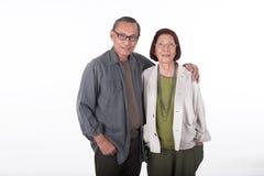 Portrait of happy senior asian couples Royalty Free Stock Photo