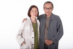 Portrait of happy senior asian couples Stock Photos