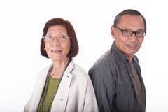 Portrait of happy senior asian couples Royalty Free Stock Photos