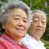 Portrait of happy senior couple. Portrait of happy grandfather and grandmother Royalty Free Stock Image