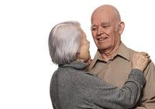 Portrait of a happy senior couple royalty free stock photo