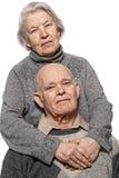 Portrait of a happy senior couple Stock Images