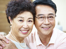 Portrait of a happy senior couple Stock Images