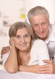 Portrait of a happy senior couple. Stock Photos