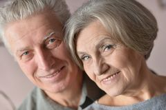 Portrait of a happy senior couple Stock Image